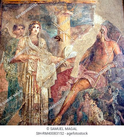This scene represents what for ancients was the most sacred wedding of all, between Zeus and Hera, a majestic figure in a peplos that is as substantial and...