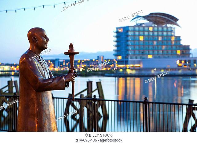 World Harmony Peace Statue, Cardiff Bay, South Wales, Wales, United Kingdom, Europe
