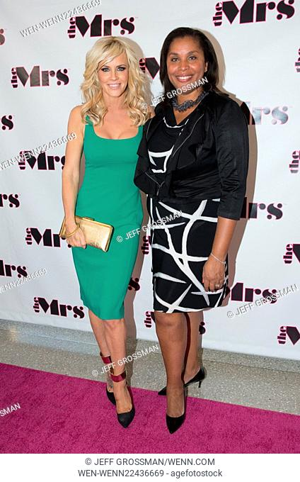 Actress Jenny McCarthy hosts The Mrs. Band Mother's Day Celebration To Benefit Dress For Success at The Weather Room at the Top of the Rock in New York City