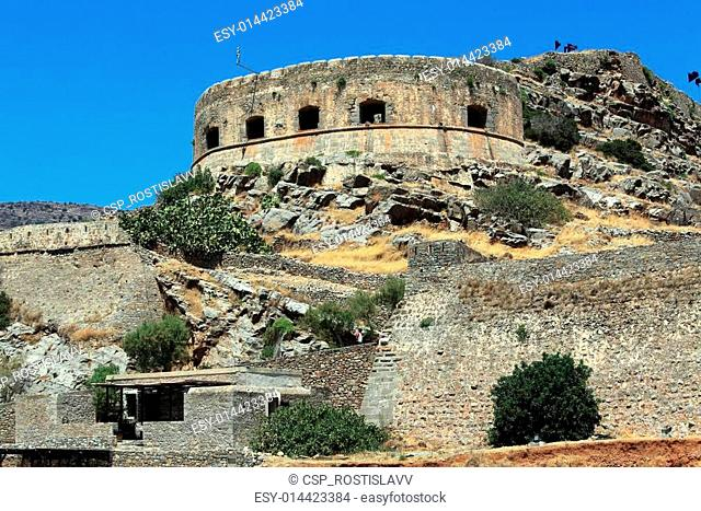 Spinalonga Island with Medieval Fortress, Crete