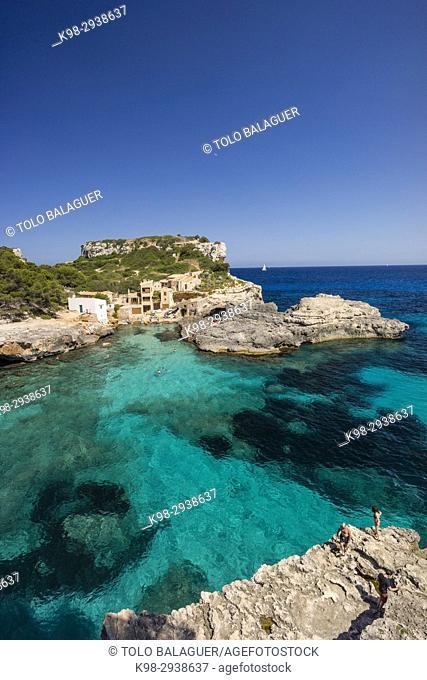 Cala s'Almunia, Santanyi, Mallorca, Balearic Islands, Spain