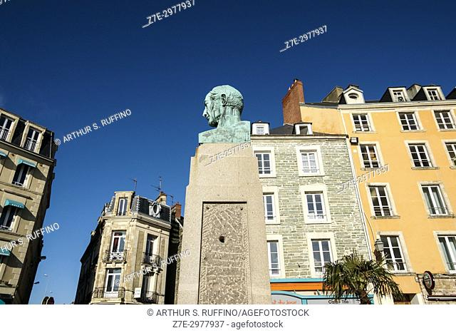 Monument to Armand de Briqueville, Quai de Caligny, Cherbourg-Octeville, Manche Department, Normandy, France, Europe