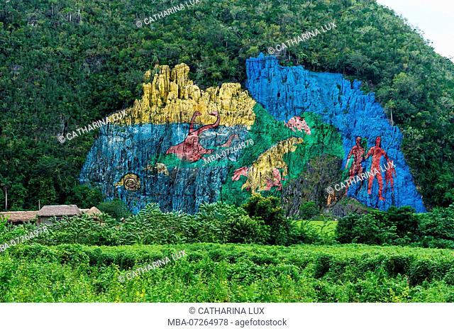 Cuba, Vinales Valley / Valle de Vinales, Mural de la Prehistoria