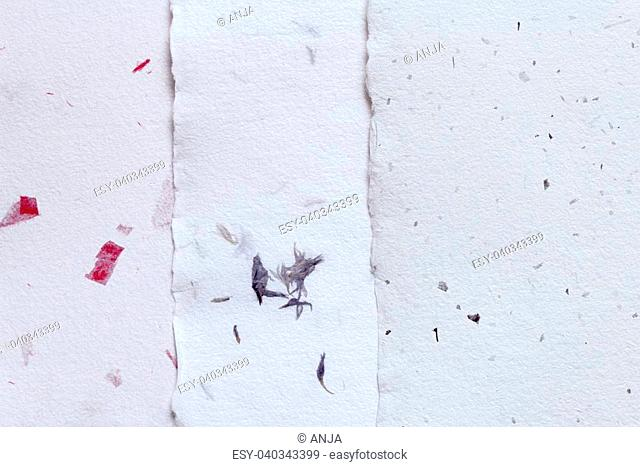 three abstract handmade paper texture