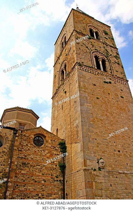 bell tower of Maria Assunta Cathedral, Melfi, Potenza, Italy