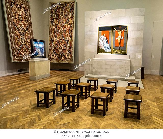 Stools await visitors to ancient Christian art