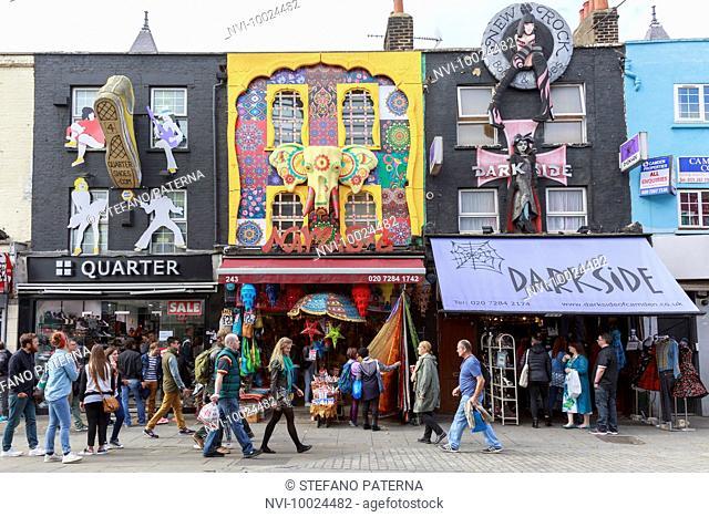 Camden Market, Camden High Street, Camden Town, London, United Kingdom
