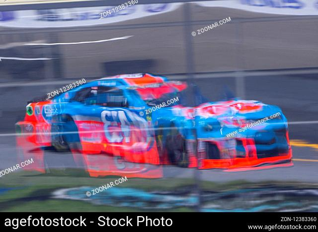 July 20, 2018 - Loudon, New Hampshire, USA: Darrell Wallace, Jr (43) practices for the Foxwoods Resort Casino 301 at New Hampshire Motor Speedway in Loudon