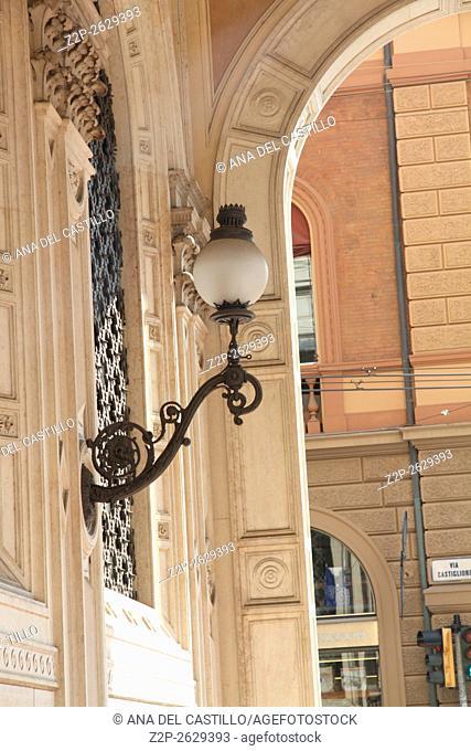 Bologna Emilia Romagna Italy. The arcades detail