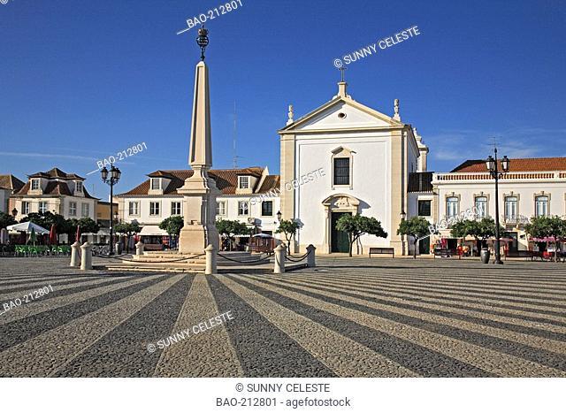 place Praca do Marques de Pombal at Vila Real de Santo Antonio, Algarve, Portugal