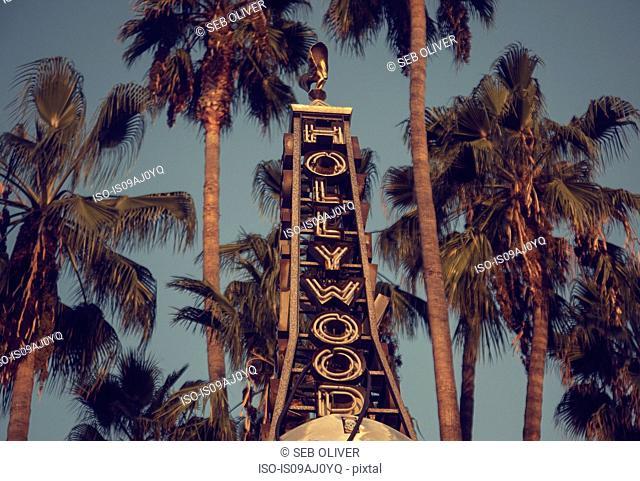 Hollywood neon sign, Los Angeles, California, USA