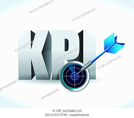 kpi radar sign illustration design
