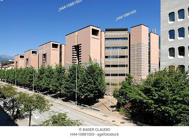 Mario Botta, Lugano, Ticino, Tessin, Switzerland, bank, Ticino, architecture, building, construction, avenue
