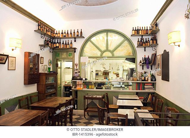 Restaurant, Osteria alla Giudea, Pietrasanta, Tuscany, Italy, Europe