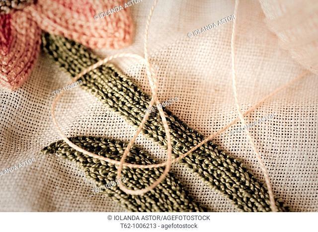 Handicraft  Cross-stitch work  Good linen