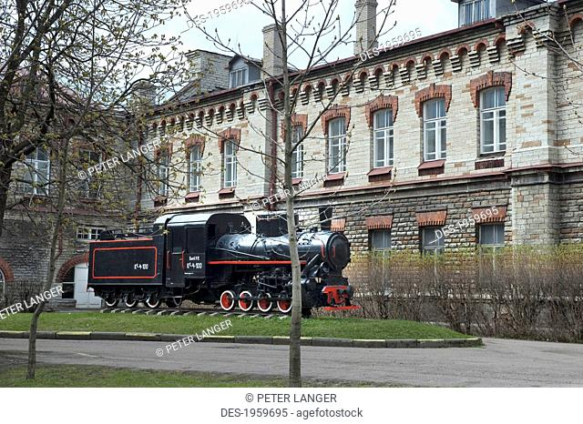 Locomotive In Front Of Museum, Tallinn, Estonia