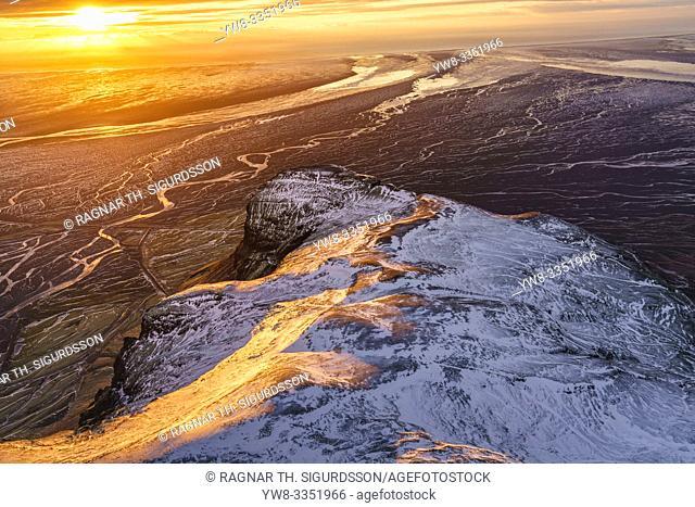 Mt. Lomagnupur, Vatnajokull National Park, Iceland. Unesco World Heritage Site