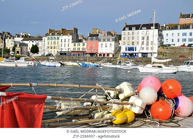 Fishing buoys in Douarnenez, Brittany, France