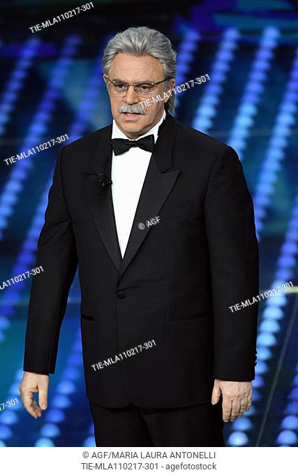 Maurizio Crozza on stage during the 67th Sanremo Music Festival 2017, Italy - 11 Feb 2017