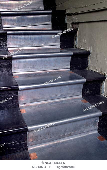 Stair detail, showing the Lead and Copper stair runner