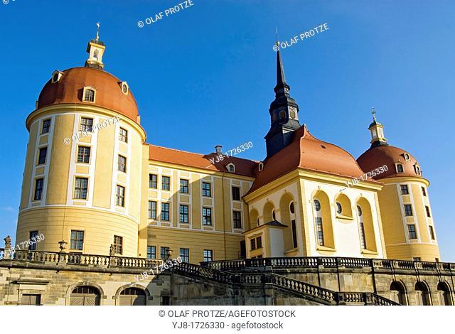 Schloss Moritzburg, a Baroque castle in Moritzburg, near Dresden, Saxony, Germany