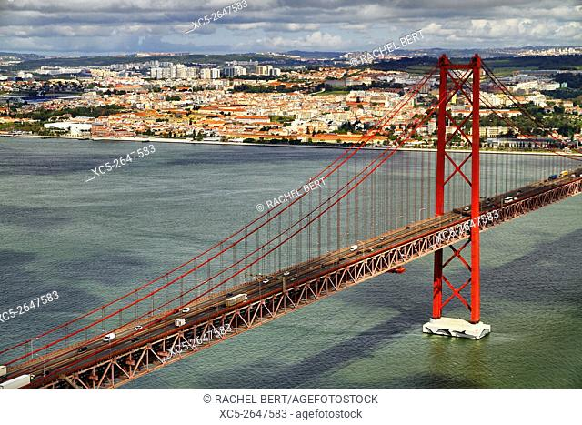 Ponte 25th Abril bridge, Lisbon, Portugal