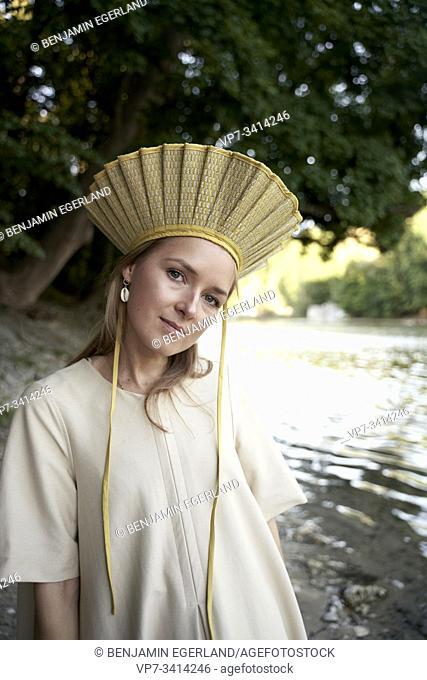 Woman wearing hat. Munich, Germany