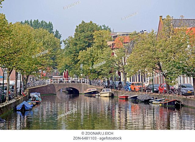 Holland, Alkmaar, Gracht, Brücke, Stadtansicht