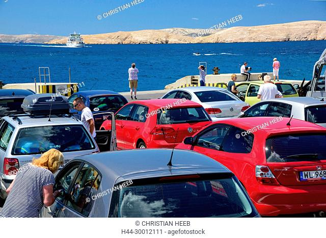 Europe, Balkan, Croatia, Adriatic Sea, Rab, Ferry to Rab