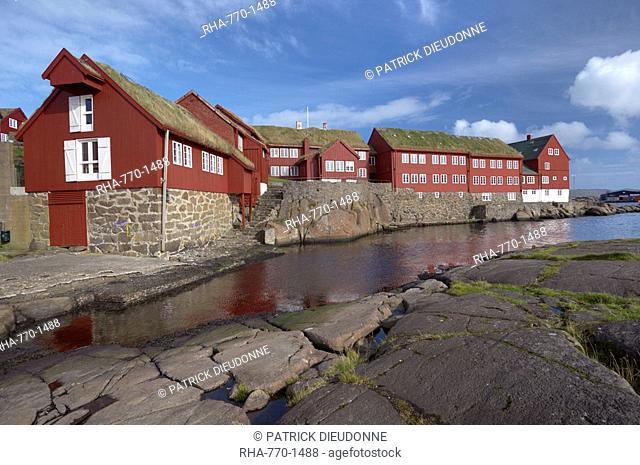 Government buildings, Tinganes, Torshavn, Streymoy Island, Faroe Islands Faroes, Denmark, Europe