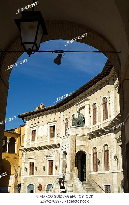 Ancient city of Fermo in the Marche Italy's main square