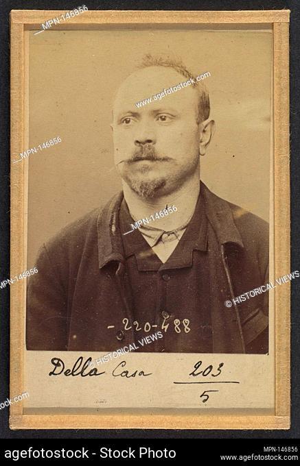Della Casa. 36 ans, né le 1/3/58 à Avoglion (Italie). Cordonnier. Anarchiste. 2/7/94. Artist: Alphonse Bertillon (French