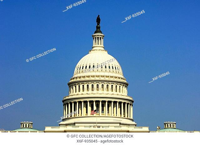 Central dome of the United States Capitol, Washington, D C , USA