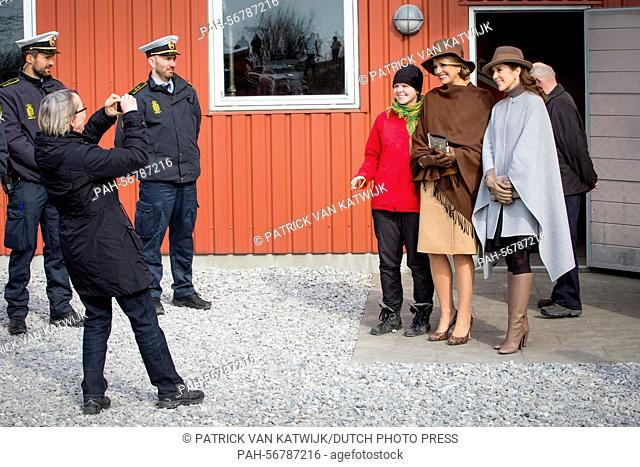 Queen Maxima of The Netherlands and Crown Princess Mary of Denmark visiting Samso Island, Denmark, 18 March 2015. The royal couples visit Energy Academy