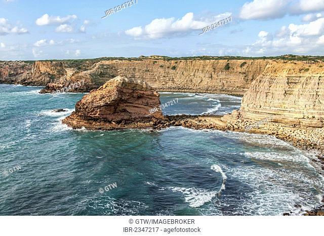 Costa Vicentina beach and cliffs, Algarve, Portugal, Europe