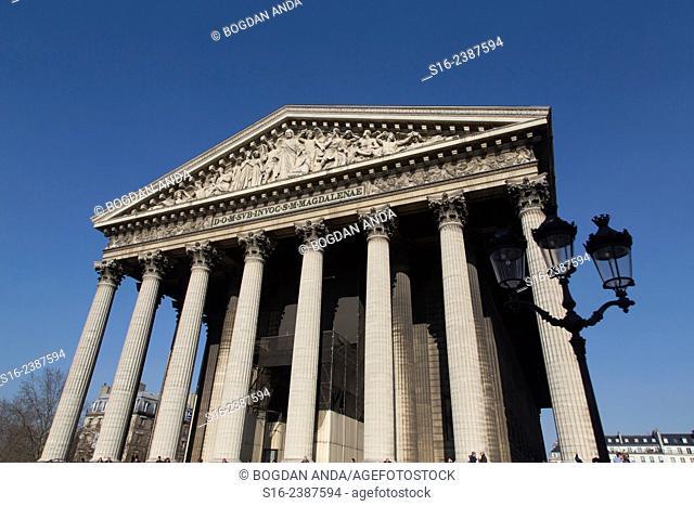 Paris, France - Front view of Eglise de la Madeleine