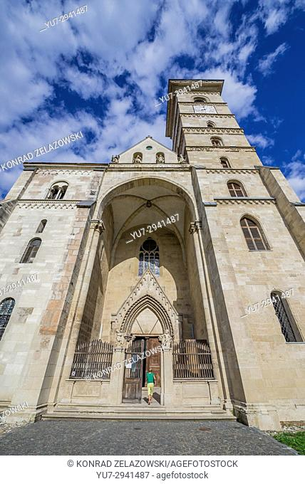 Roman Catholic Cathedral of Saint Michael in Alba Carolina Fortress of Alba Iulia city located in Alba County, Transylvania, Romania