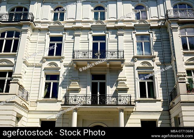 Europe, Germany, Hamburg, Uhlenhorst, lake Aussenalster, Schwanenwik, noble residential house, founding years