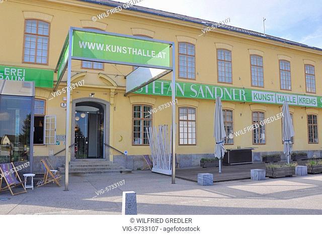 Kunsthalle in Krems an der Donau, Stadt, Wachau, Niederösterreich, Österreich, Donautal, Kunst, Kultur, Kulturmeile - Krems an der Donau, Austria, 01/01/2017