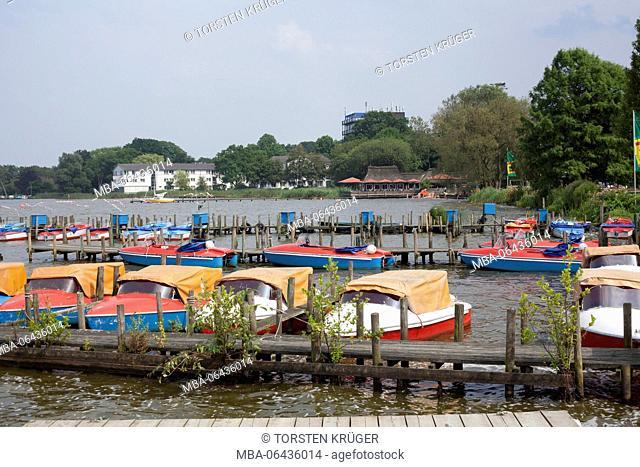 Germany, Lower Saxony, Bad Zwischenahn, lakefront, jetty