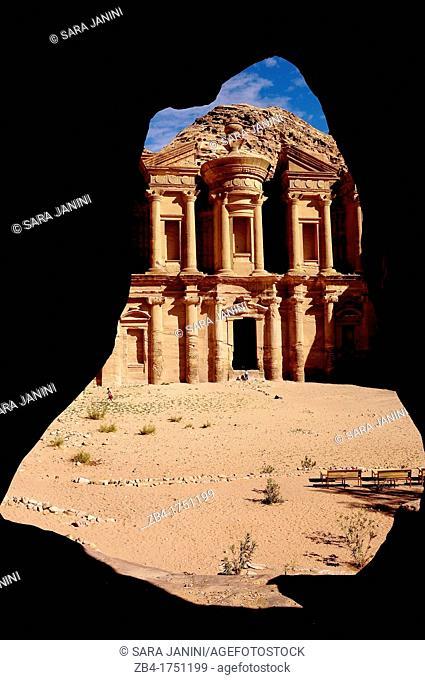 Al Deir Ad-Deir, the Monastery, Archaeological site, UNESCO World Heritage Site, Petra, Jordan, Middle East