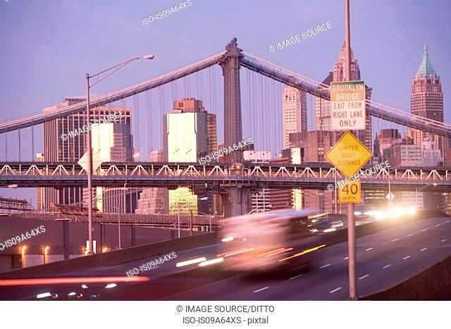Time lapse view of New York City traffic