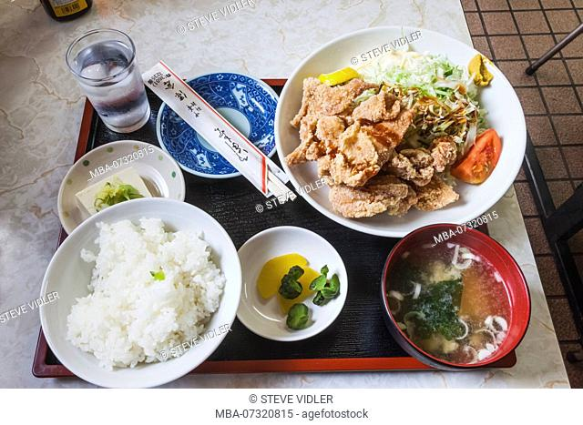 Japan, Honshu, Tokyo, Local Restaurant, Set Lunch