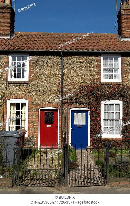 Neighbouring terraced cottages, Suffolk, United Kingdom