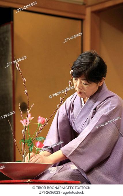 Japan; Kyoto; kado, flower arrangement,