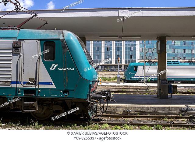Trains, Railway Station, Syracuse, Sicily, Italy
