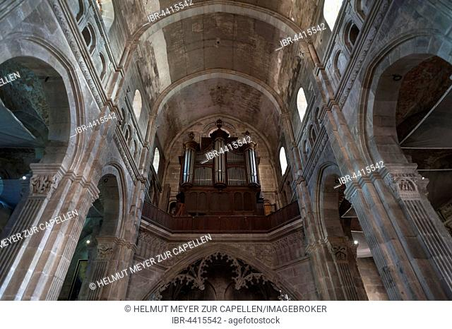 Organ gallery in Cathedral of Saint Lazarus, Autun, Saône-et-Loire, France