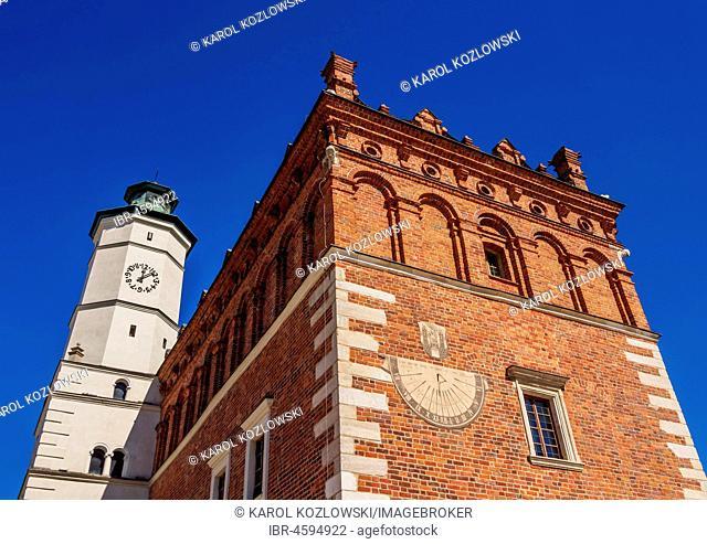 Town Hall at Market Square, Sandomierz, Swietokrzyskie Voivodeship, Poland