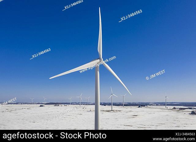 Ubly, Michigan - A wind farm in Michigan's Thumb region