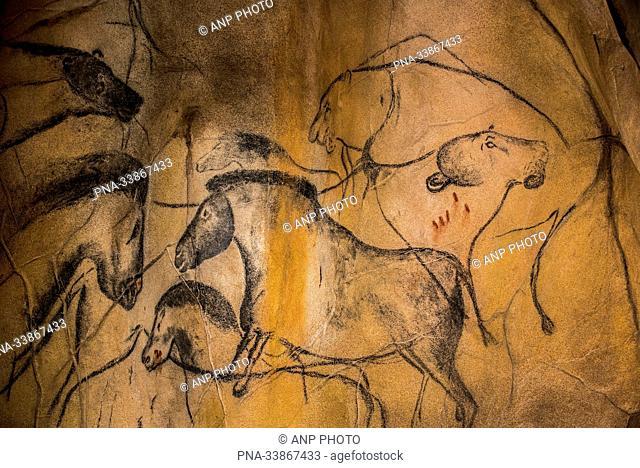 Horse (Equus spp) - Chauvet Cave, Vallon-Pont-d'Arc, Ardeche, Rh??ne-Alpes, France, Europe